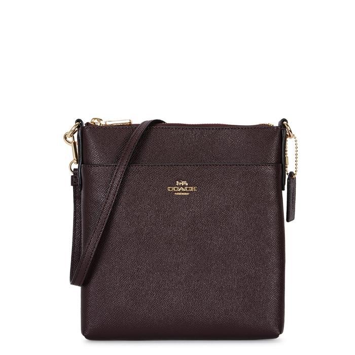Coach Burgundy Leather Cross-body Bag