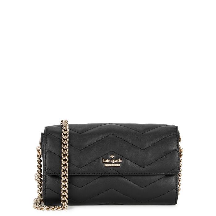 Kate Spade Reese Park Delilah Leather Shoulder Bag In Black
