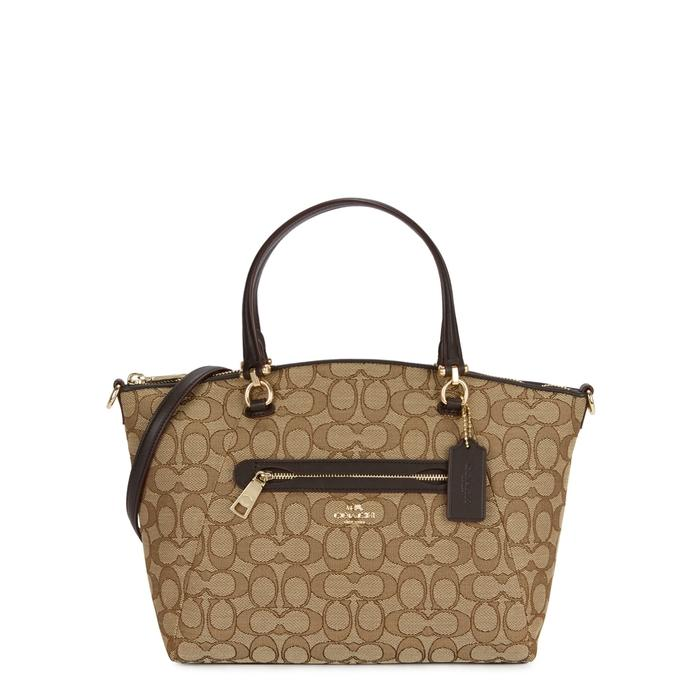 Coach Prairie Monogrammed Canvas Tote In Brown