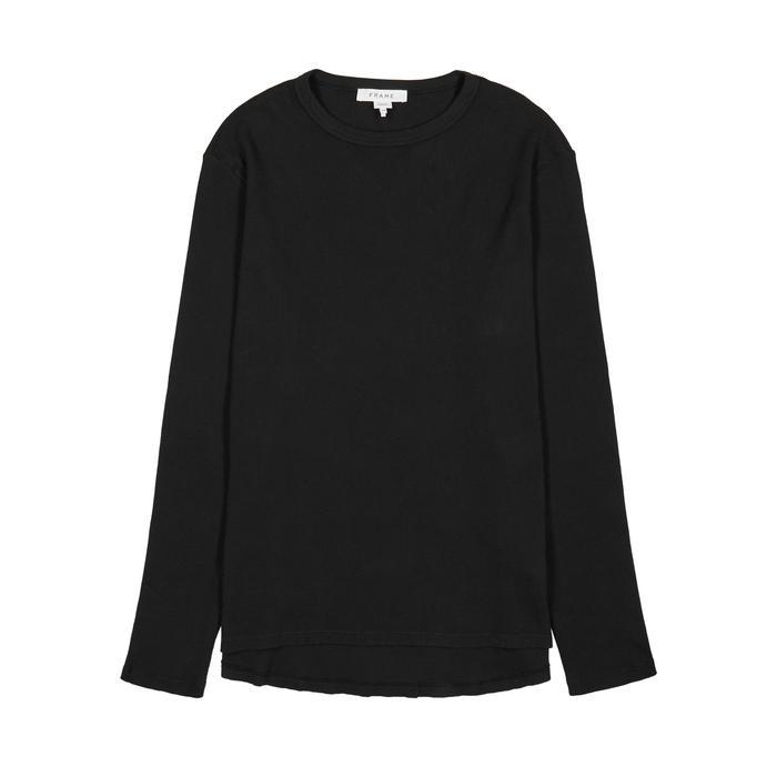 Frame Black Waffle-knit Cotton Jumper