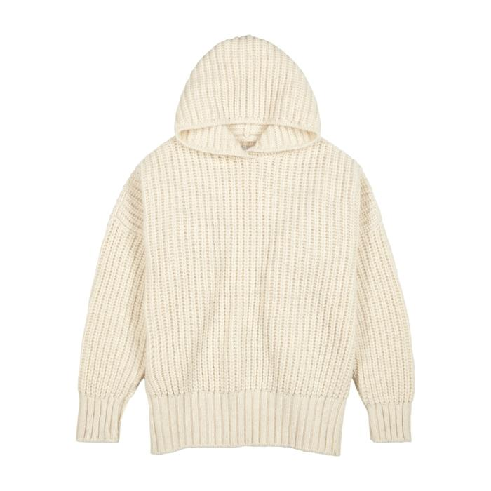 Opportuno Katy Chunky-knit Alpaca-blend Jumper In Ecru