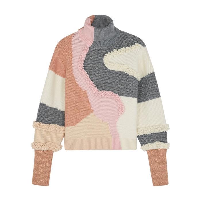 Peter Pilotto Colour-blocked Cotton-blend Jumper In Multicoloured
