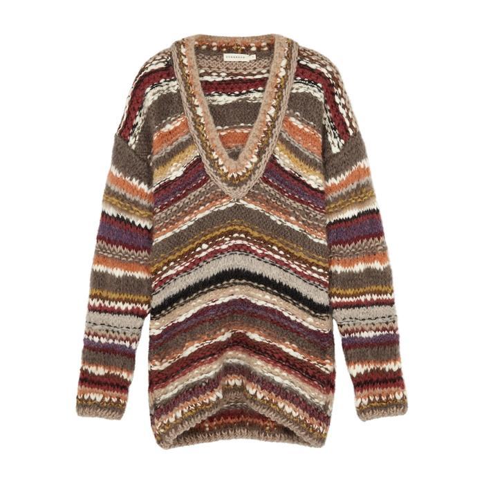 Oneonone Brave Striped Wool-blend Jumper In Multicoloured