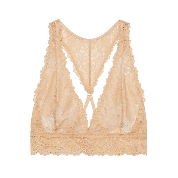 Savage X Fenty Lace Bralette In Nude
