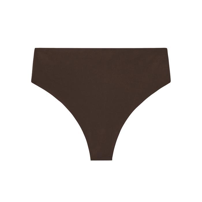 Savage X Fenty High-waist Microfiber Thong In Brown