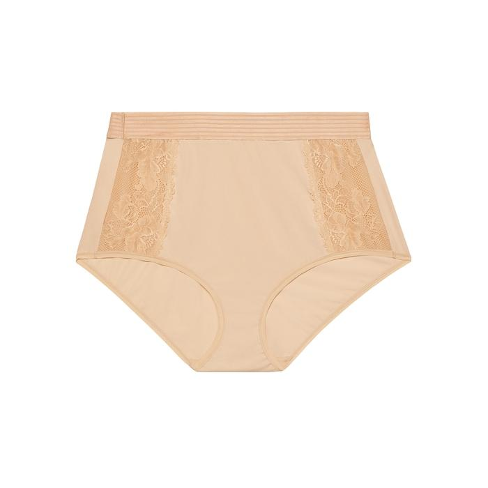 Savage X Fenty High-waist Lace Brief In Nude