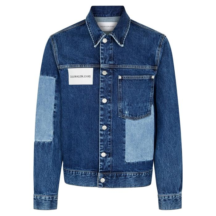 Calvin Klein Jeans Est.1978 Blue Patchwork Denim Jacket