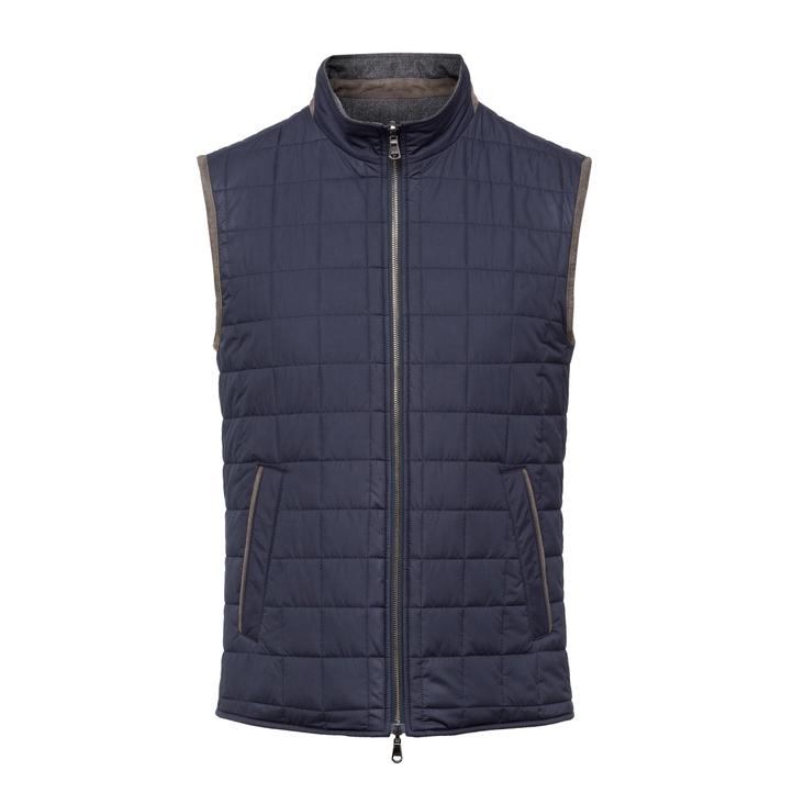 Hackett Reversible Water-repellent Quilted Wool Gilet
