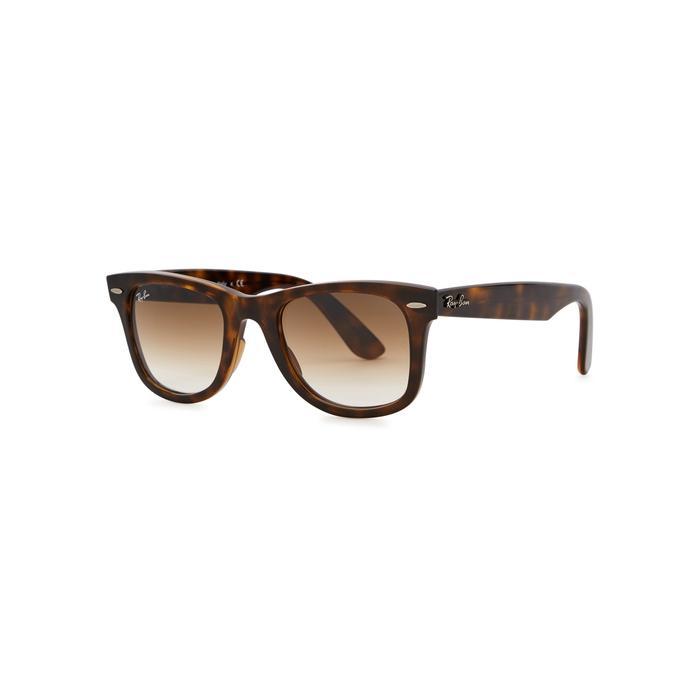 Ray Ban Wayfarer Ease Tortoiseshell Sunglasses In Havana