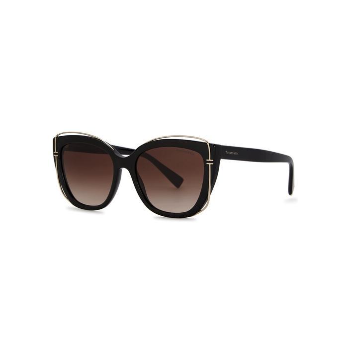 Tiffany & Co Black Cat-eye Sunglasses