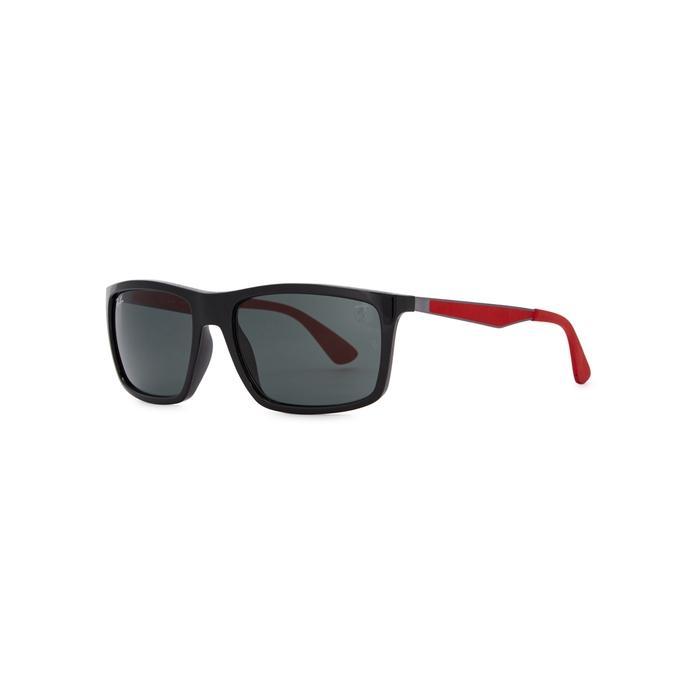 Ray Ban X Scuderia Ferrari Square-frame Sunglasses In Black