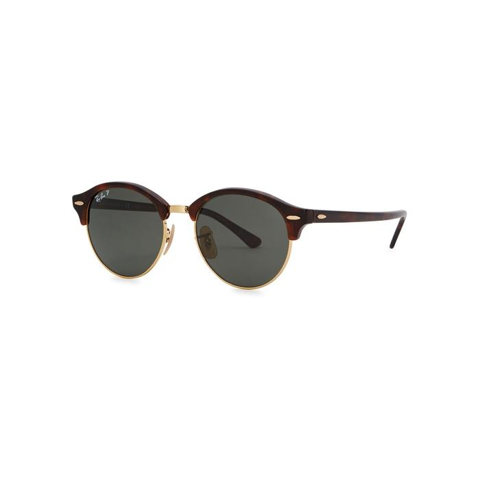 Ray Ban Clubround Round-frame Sunglasses In Red