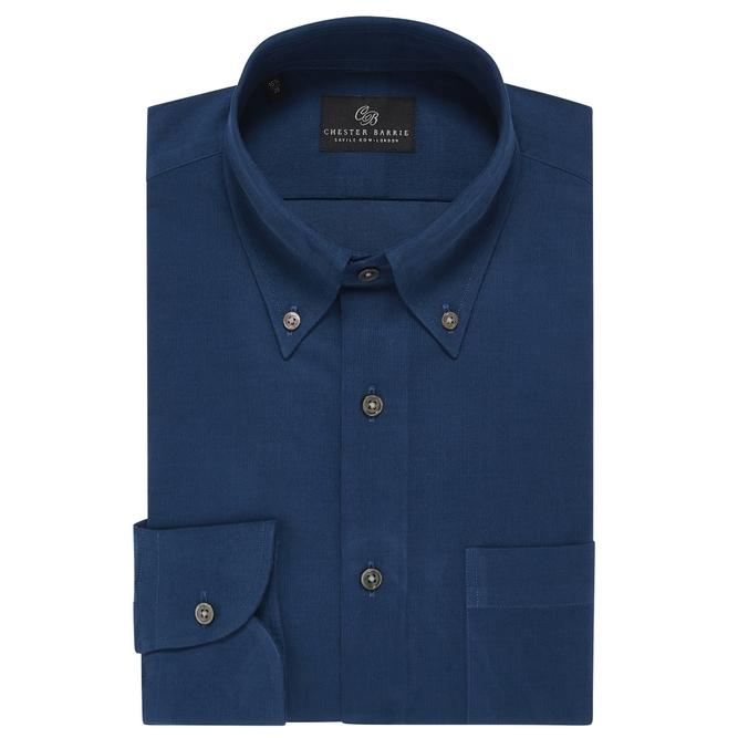 Chester Barrie Baby Cord Shirt In Teal
