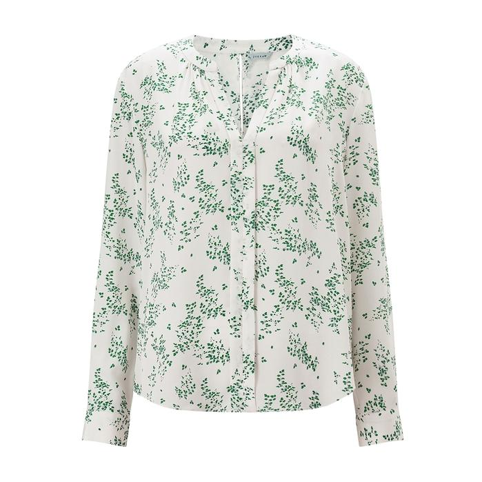 Jigsaw Ophelia Open Neck Silk Blouse