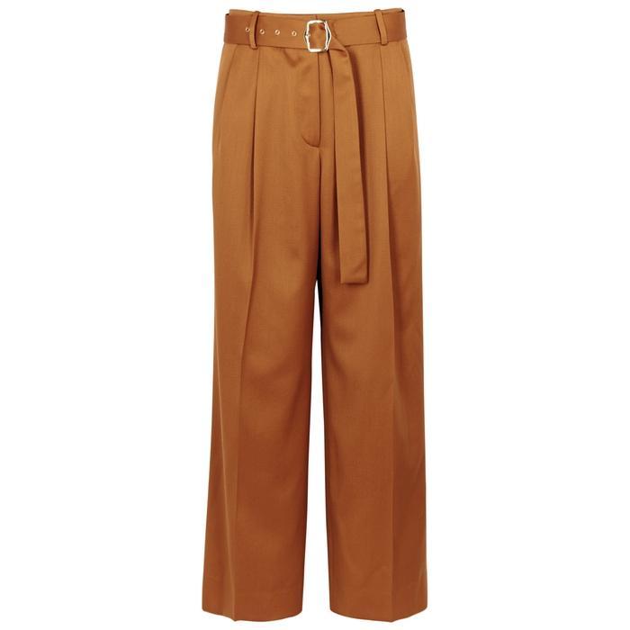 Sies Marjan Blanche Wide-leg Wool Trousers In Brown