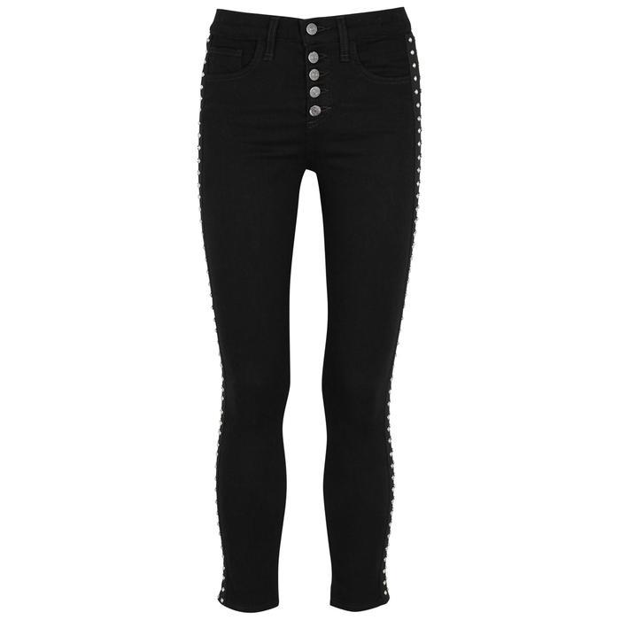 Veronica Beard Debbie 10 Embellished Skinny Jeans In Black