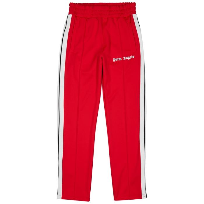 Palm Angels Red Striped Jersey Jogging Trousers