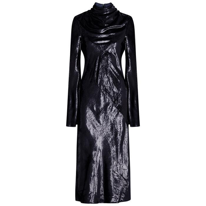 Ellery Gotham Metallic Chenille Midi Dress