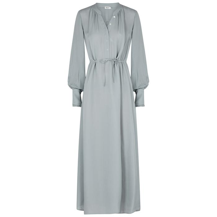 Filippa K Ice Blue Drawstring Maxi Dress In Light Blue