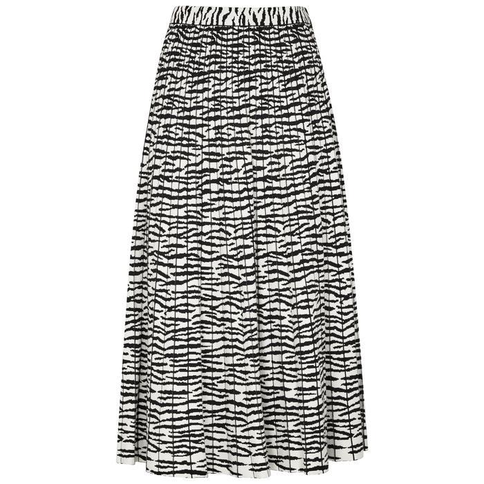 Proenza Schouler Tiger-print Stretch-knit Midi Skirt In White