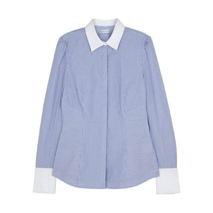 Rebecca Vallance Cassia Striped Cotton Shirt In Blue
