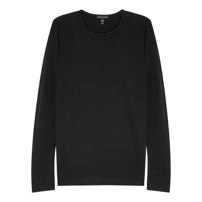 Eileen Fisher Black Silk Jersey Top