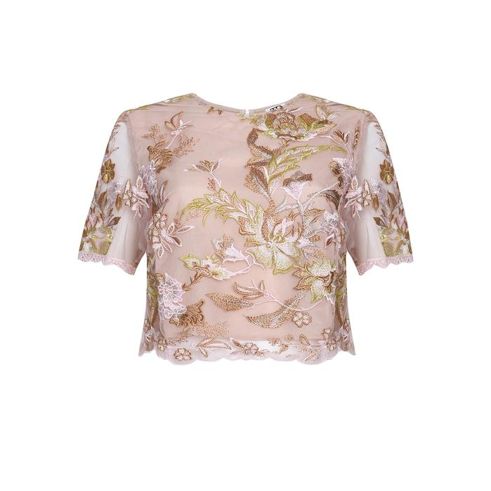 True Decadence In Pink Embroidery