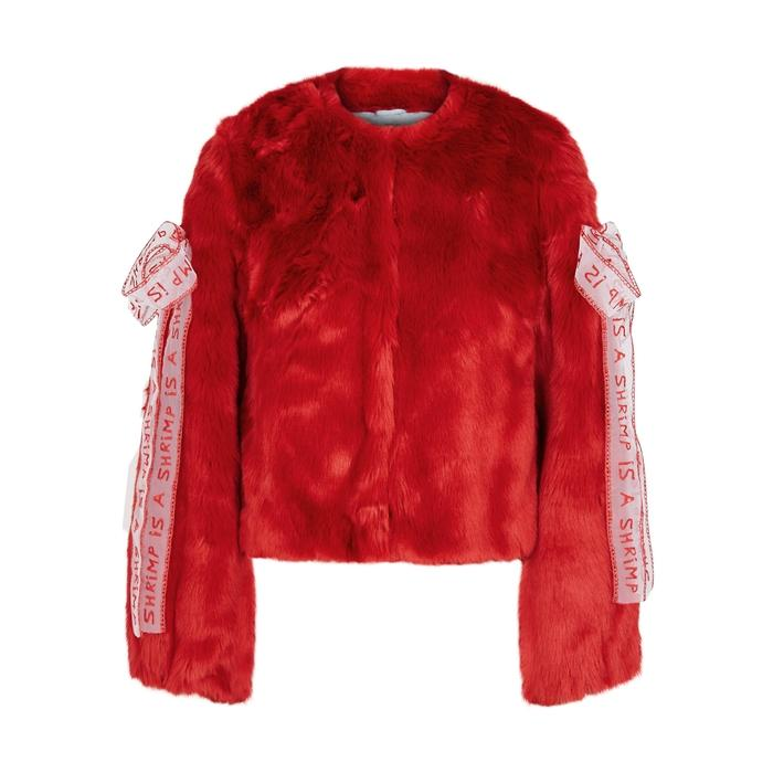 Shrimps Gabriel Red Faux-fur Jacket