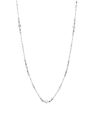 Kendra Scott Wyndham Cubic Zirconia Chain Necklace In Silver