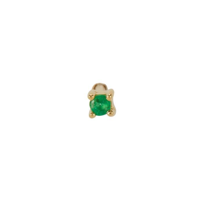 Otiumberg 9kt Gold Emerald Stud Earring