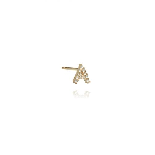 Annoushka Gold A Diamond Initial Single Stud Earring