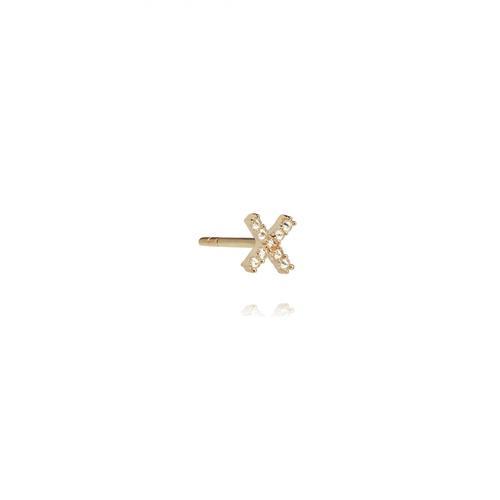 Annoushka Initial X Single Stud Earring