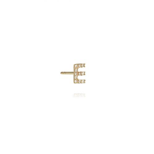 Annoushka Initial E 18ct Gold And Diamond Stud Earring