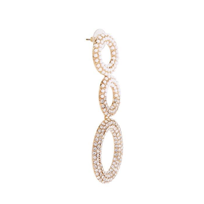 Baublebar Mimi Gold-plated Drop Earrings In White