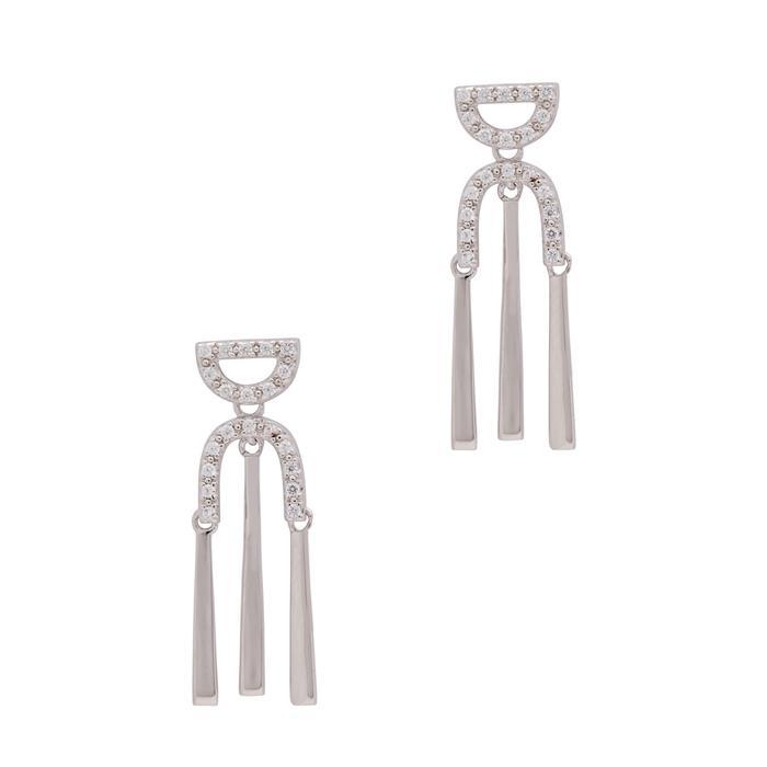 V Jewellery V By Laura Vann Rita Sterling Silver Earrings