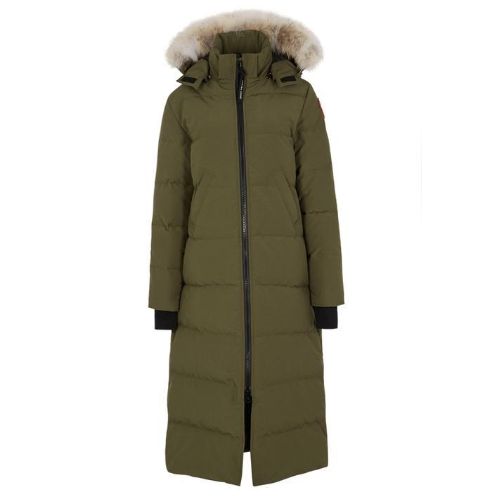 Canada Goose Mystique Fur-trimmed Shell Coat In Green