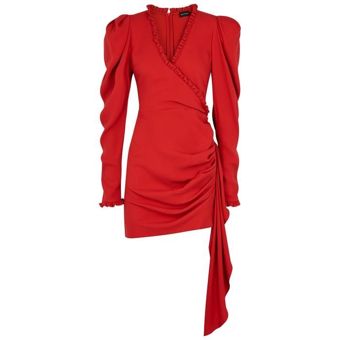 Magda Butrym Carlton Silk Crepe De Chine Mini Dress In Red