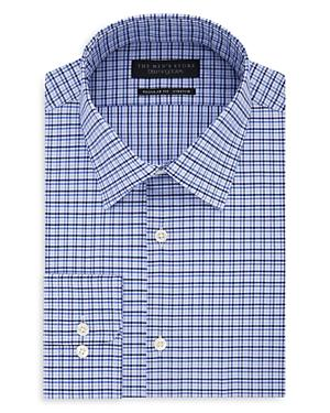 The Men's Store At Bloomingdale's Checked Regular Fit Dress Shirt - 100% Exclusive In Navy