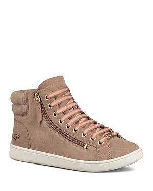 1b20d0bbd0f Women's Olive Leather High Top Sneakers in Fawn