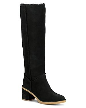 f295554fc74 Women's Kasen Round Toe Suede & Sheepskin Tall Boots in Black Suede