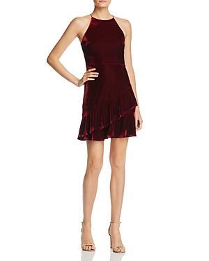 Aqua Velvet Flounce Dress - 100% Exclusive In Burgundy