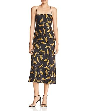 Bec & Bridge Conga Beat Printed Silk Midi Dress In Cheetah
