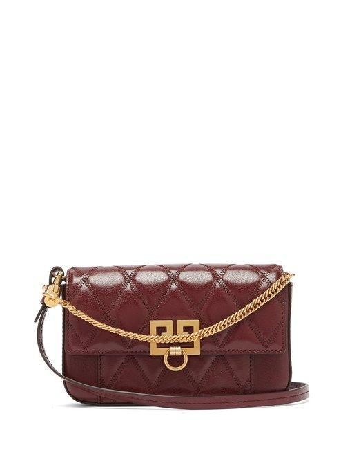 Givenchy - Pocket Quilted Leather Cross Body Bag - Womens - Burgundy