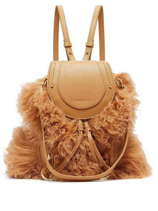 See By ChloÉ - Olga Shearling And Leather Backpack - Womens - Brown