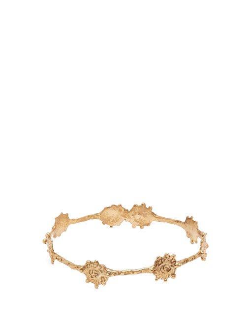 Joanne Burke - Flower Chain Bracelet - Womens - Gold