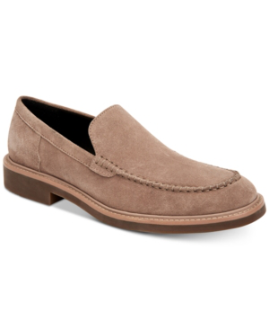 Calvin Klein Men's Vance Suede Loafers Men's Shoes In Tobacco