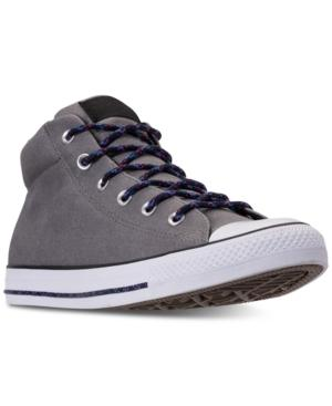 Converse Men's Chuck Taylor Street Mid Casual Sneakers From Finish Line In Mason/black/white