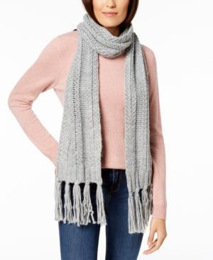 Vince Camuto Chunky Herringbone-stitch Scarf, Created For Macy's In Grey Heather
