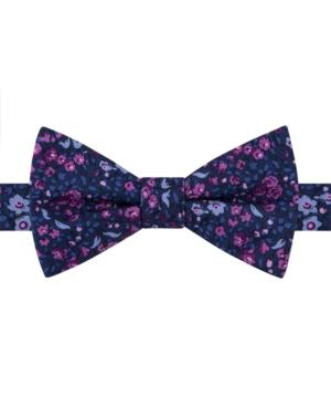Tommy Hilfiger Men's Botanical Pre-tied Bow Tie In Green