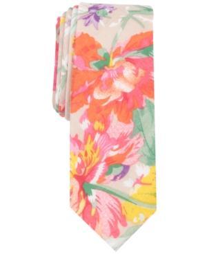 Penguin Men's Visser Floral Skinny Tie In Taupe